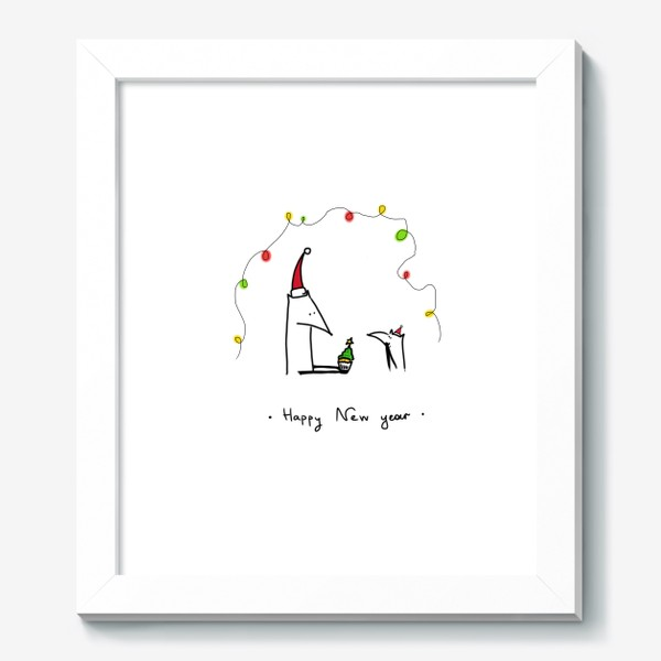 Картина «Лисички празднуют Новый год»