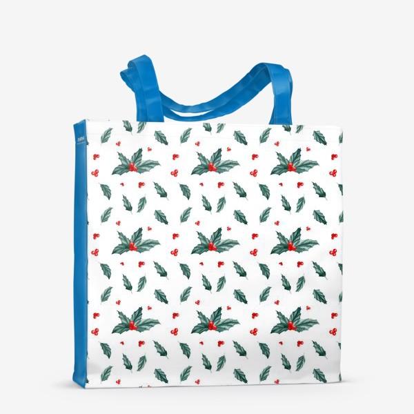 Сумка-шоппер «Остролист паттерн новый год рождество»