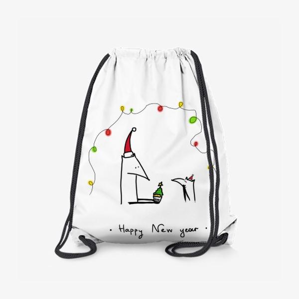 Рюкзак «Лисички празднуют Новый год»