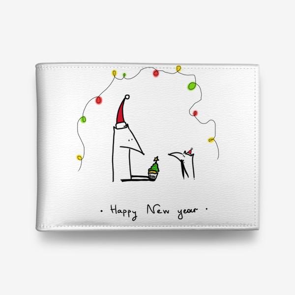 Кошелек «Лисички празднуют Новый год»