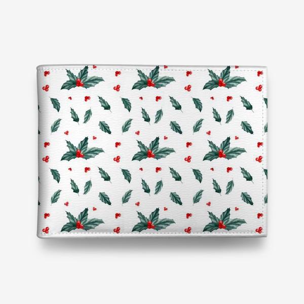 Кошелек «Остролист паттерн новый год рождество»