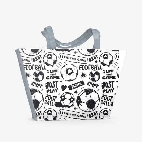Пляжная сумка «Просто играй в футбол!»