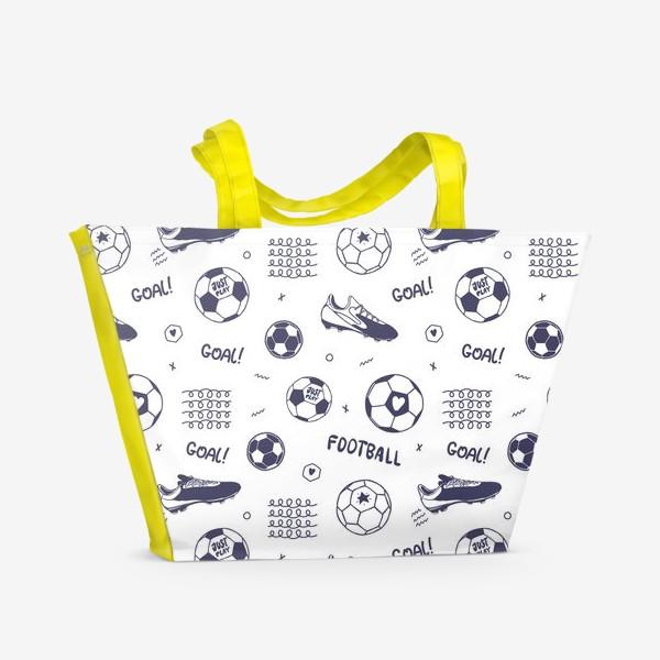 Пляжная сумка «Футбольный паттерн#1»