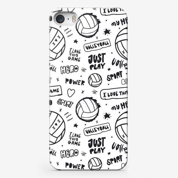 Чехол iPhone «Волейбольный мяч. Паттерн.»