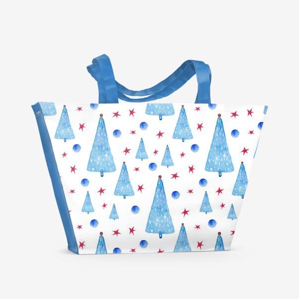 Пляжная сумка «Новогодний паттерн»