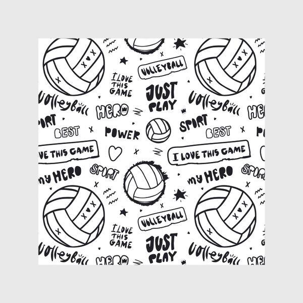 Шторы «Волейбольный мяч. Паттерн.»