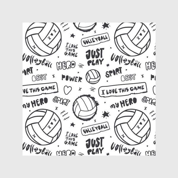 Скатерть «Волейбольный мяч. Паттерн.»