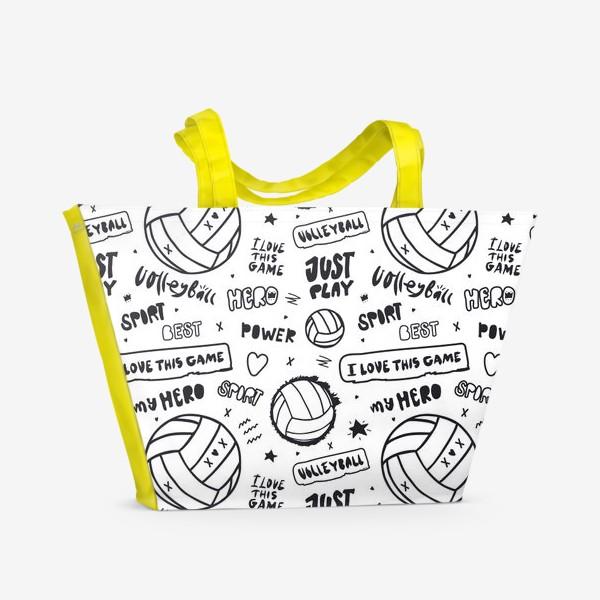 Пляжная сумка «Волейбольный мяч. Паттерн.»