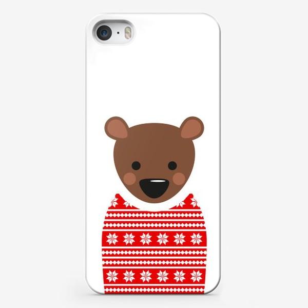 Чехол iPhone «Новогодний медведь»