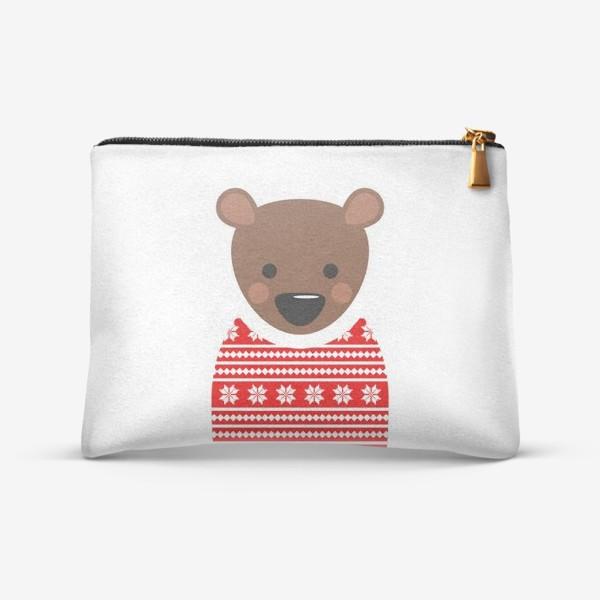Косметичка «Новогодний медведь»