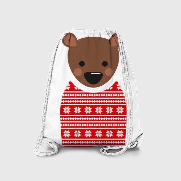 Рюкзак «Новогодний медведь»