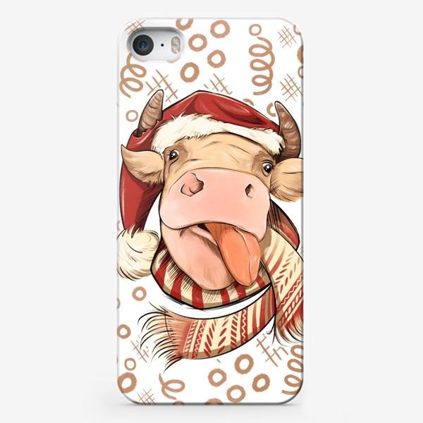 Чехол iPhone «Бык символ 2021 »