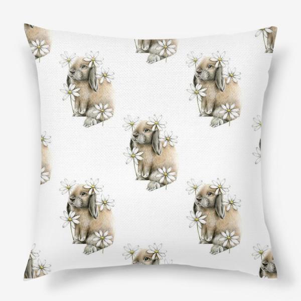 Подушка «Кролик и ромашки»