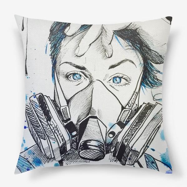 Подушка «Give me blue air»