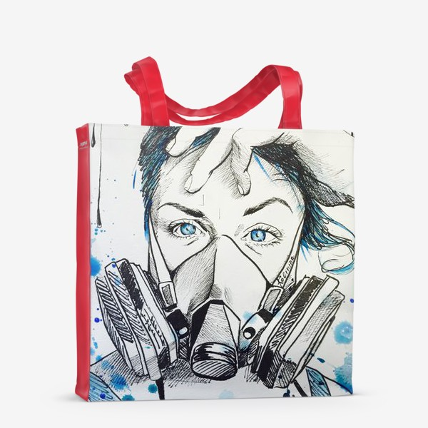 Сумка-шоппер «Give me blue air»