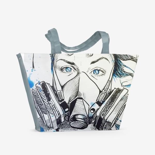 Пляжная сумка «Give me blue air»
