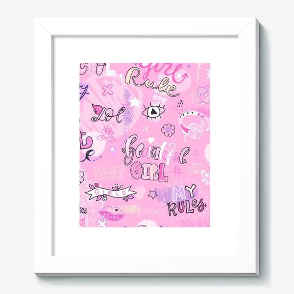 Картина «Девушка. Мои правила. Паттерн.»