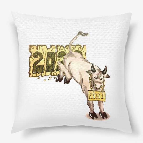 Подушка «Суровый бык»