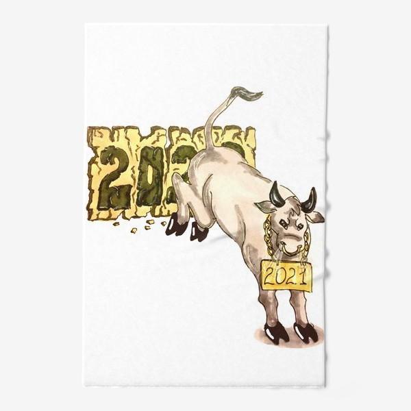 Полотенце «Суровый бык»