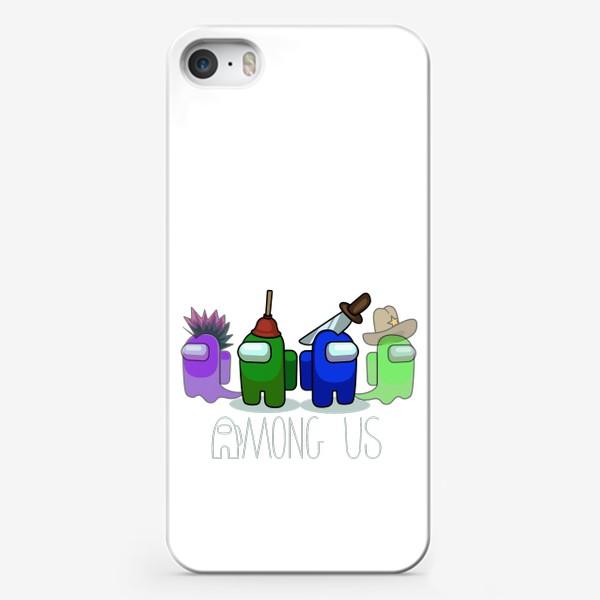 Чехол iPhone «AMONG US - Победа!»