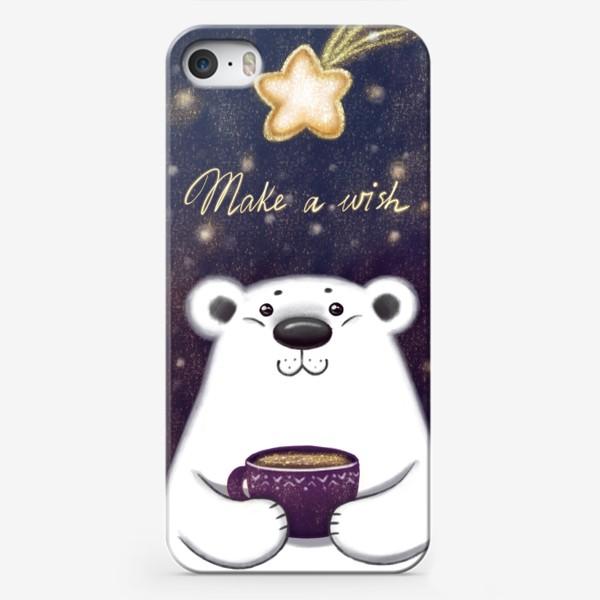 Чехол iPhone «Белый мишка. Загадай желание»