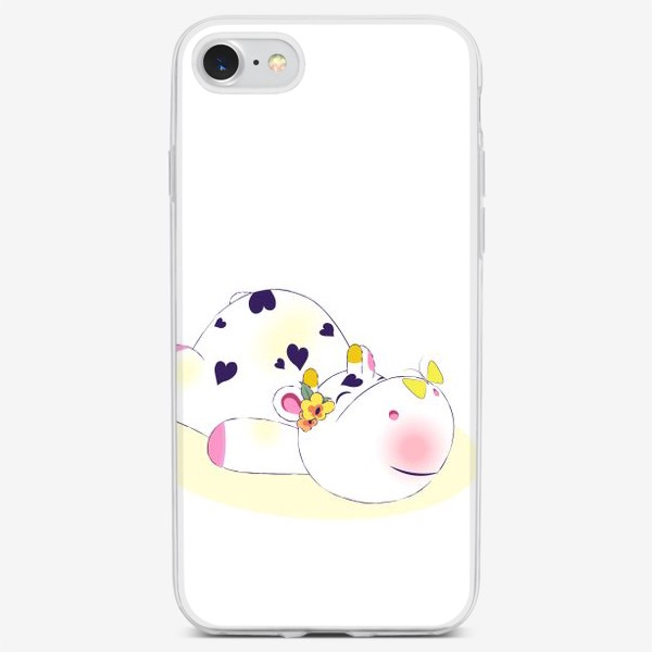 Чехол iPhone «Довольная корова»