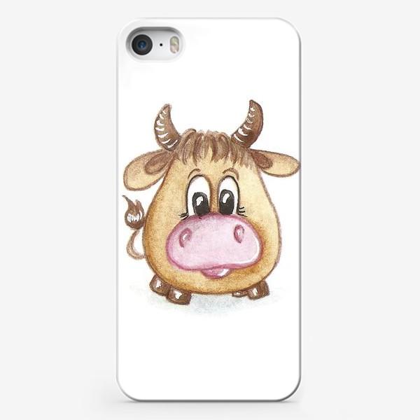 Чехол iPhone «Бычок»
