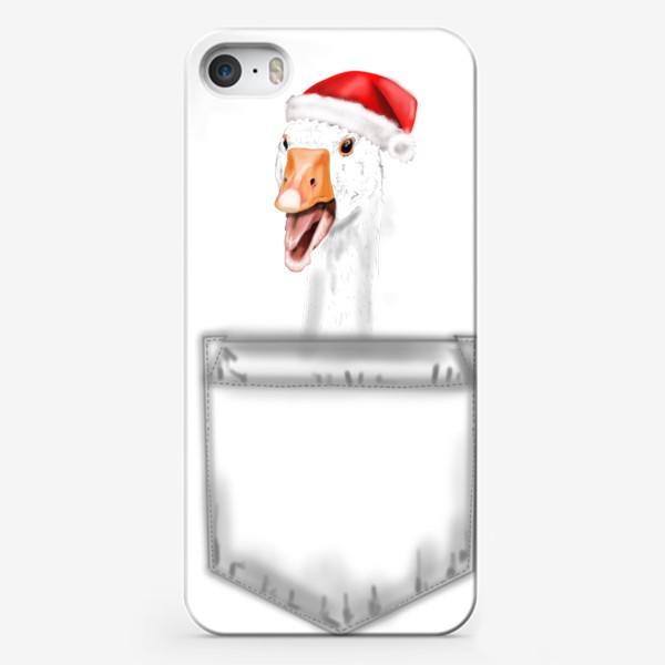 Чехол iPhone «С новым годом гусь »