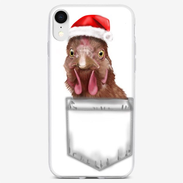 Чехол iPhone «С новым годом курица »