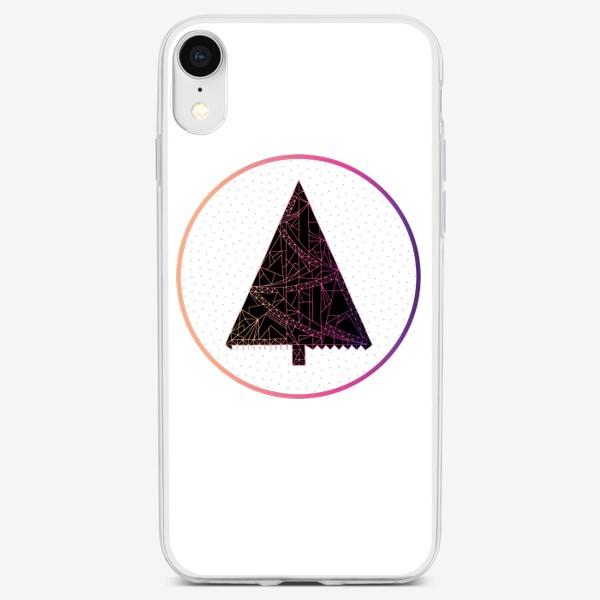 Чехол iPhone «Елка в круге»