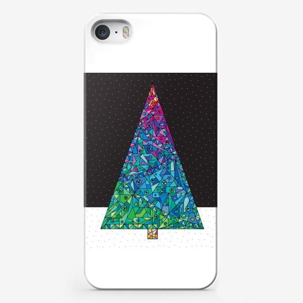 Чехол iPhone «Елка кристалл»