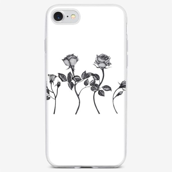 Чехол iPhone «Винтажные розы. Графика»