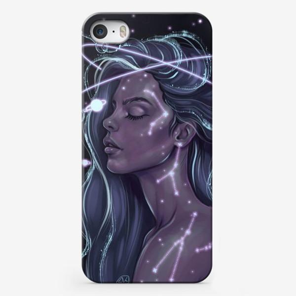Чехол iPhone «Космическая девушка»