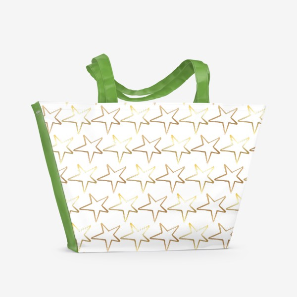 Пляжная сумка «Золотые звёзды»