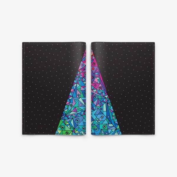 Обложка для паспорта «Елка кристалл»