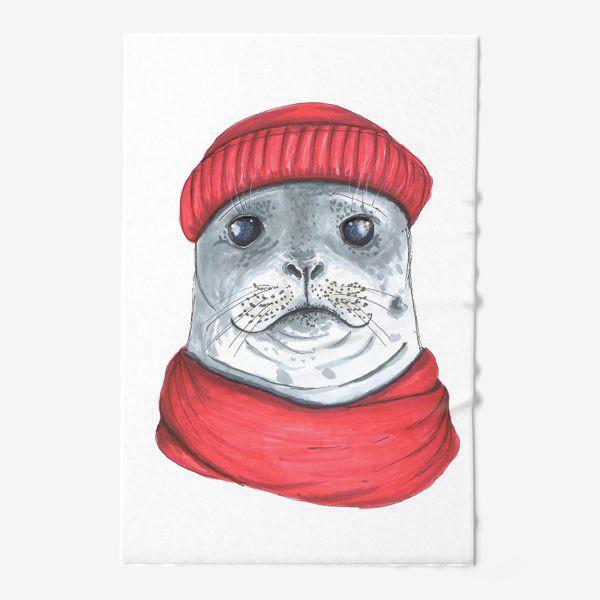 Полотенце «Тюлень в шапке и шарфе»