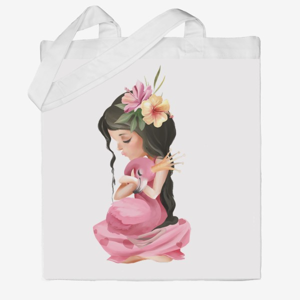 Сумка хб «Принцесса с Фламинго»