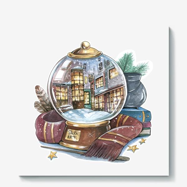 """Холст «Снежный шар """"Косой переулок"""" (Гарри Поттер) »"""