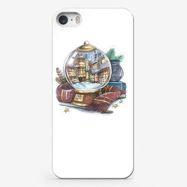 "Чехол iPhone «Снежный шар ""Косой переулок"" (Гарри Поттер) »"