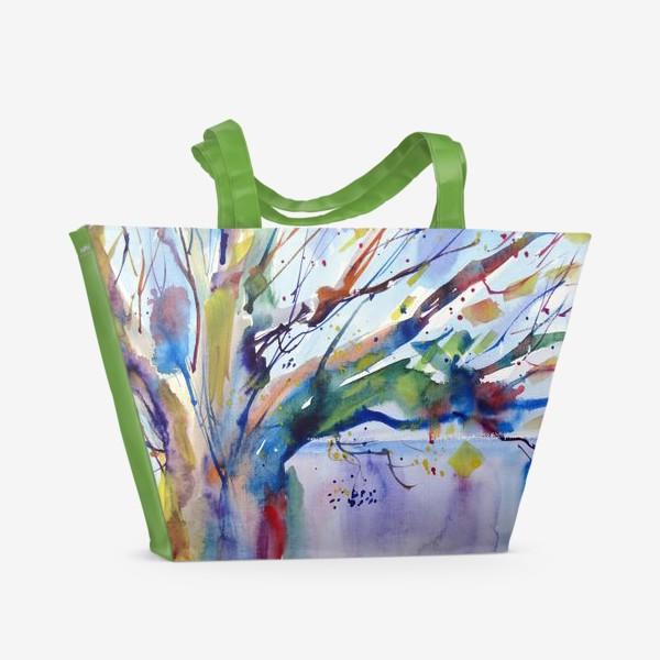 Пляжная сумка «Цветное дерево»