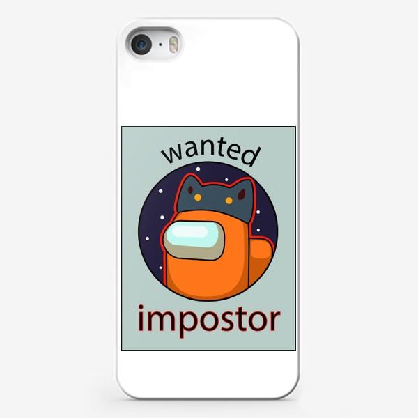 Чехол iPhone «AMONG US - Разыскивается Самозванец!»
