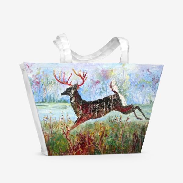 Пляжная сумка «Лесной олень»
