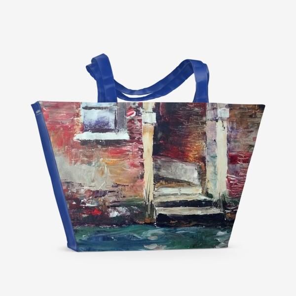 Пляжная сумка «Сны о Венеции. Rio di San Zan Degola.»