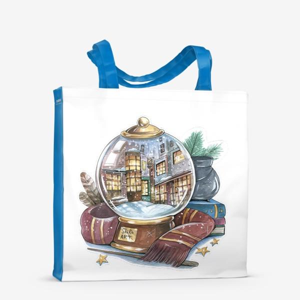 "Сумка-шоппер «Снежный шар ""Косой переулок"" (Гарри Поттер) »"