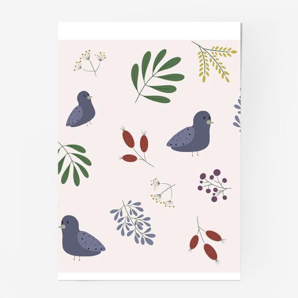Постер «лесные птички»