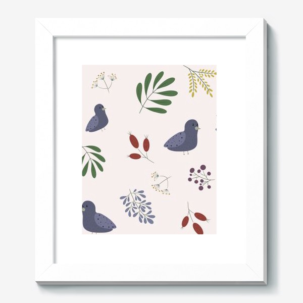 Картина «лесные птички»