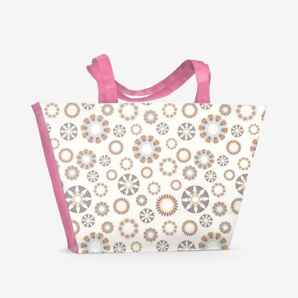 Пляжная сумка «Россыпь беж»