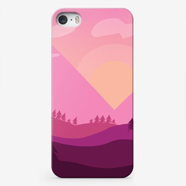 Чехол iPhone «Розовый пейзаж»