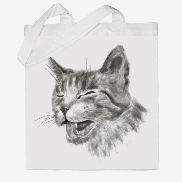 Сумка хб «портрет кошка чихает»