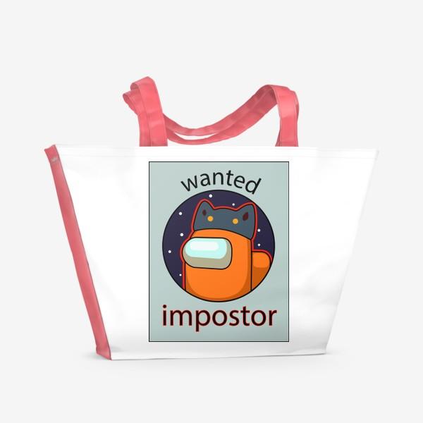 Пляжная сумка «AMONG US - Разыскивается Самозванец!»